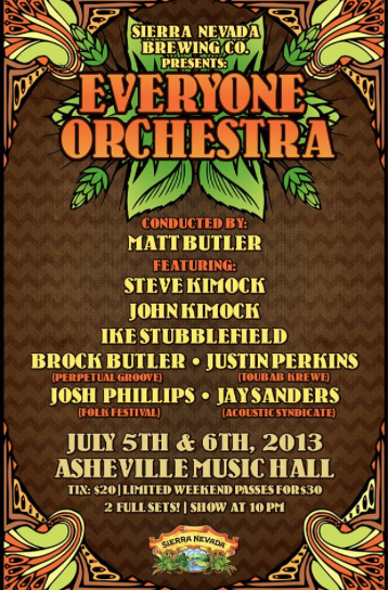 Everyone Orchestra in Asheville (2nights) Im playing!
